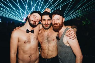 Friends... Couple of Men and Stefan from Nomadic Boys   Whistler Pride 2018 Gay Ski Week © Steve Polyak