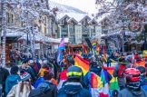Turning Resort Town Whistler in rainbow colors | Whistler Pride 2018 Gay Ski Week © Coupleofmen.com