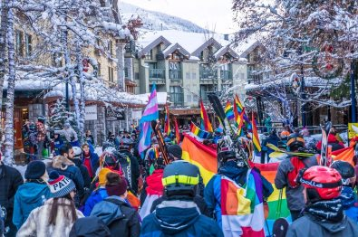 Turning Resort Town Whistler in rainbow colors | Whistler Pride 2018 Gay Ski Week © Coupleofmen.com