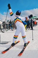 Rainbow Costumes for Whistler Pride 2018 Gay Ski Week © Coupleofmen.com