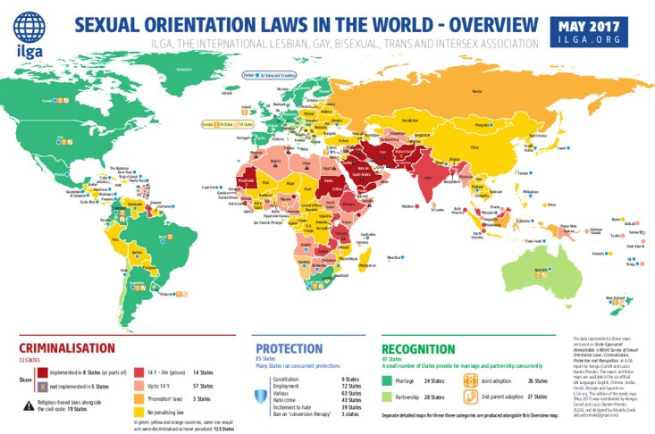 Map ILGA.org Sexual Orientation Laws in the World Spartacus Gay Travel Index 2019