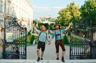 Gay-friendly City Trip Salzburg Gay Städtetrip Salzburg LGBT Photo Tour for the Sound of Music | Travel Salzburg Gay Couple City Trip © coupleofmen.com