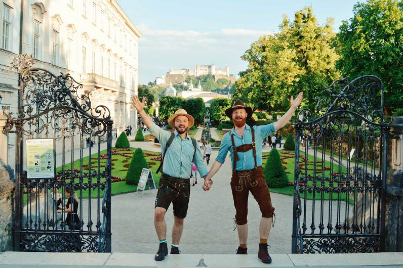 Gay-friendly City Trip Salzburg Gay Städtetrip Salzburg LGBT Photo Tour for the Sound of Music | Travel Salzburg Gay Couple City Trip © coupleofmen.com