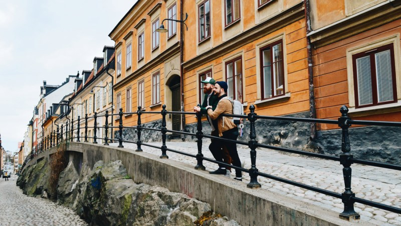 We love the colorful old buildings of Stockholm's old town parts | EuroPride 2018 Stockholm © Coupleofmen.com