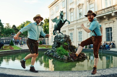 "Gay-friendly City Trip Salzburg Gay Städtetrip Salzburg Pegasus Fountain at Mirabell Gardens ""Pegasusbrunnen"" 