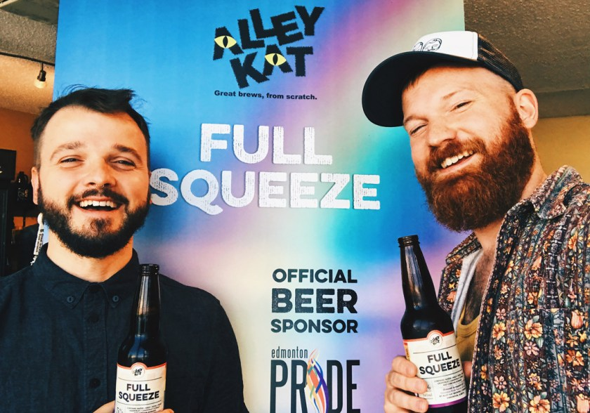 Gay Pride Parade Edmonton Canada Full Squeeze by Ally Kat is just the best Pride Beer you can get | Gay Edmonton Pride Festival © Coupleofmen.com