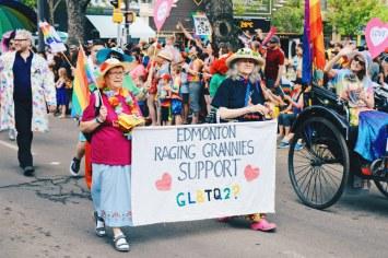 Edmonton Raging Grannies Support GLTBQ2S+? | Gay Edmonton Pride Festival © Coupleofmen.com