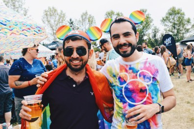 Even Disney's Rainbow Mickey Mouse Ears made it to Edmonton | Gay Edmonton Pride Festival © Coupleofmen.com