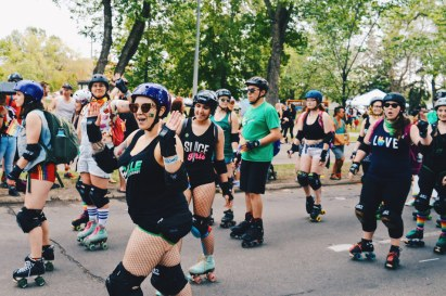 Sporty Canadians with Roller Skates | Gay Edmonton Pride Festival © Coupleofmen.com