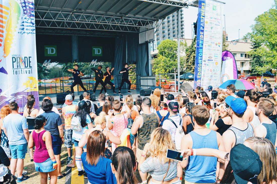 Music performances on stage of Edmonton Pride Festival | Gay Edmonton Pride Festival © Coupleofmen.com