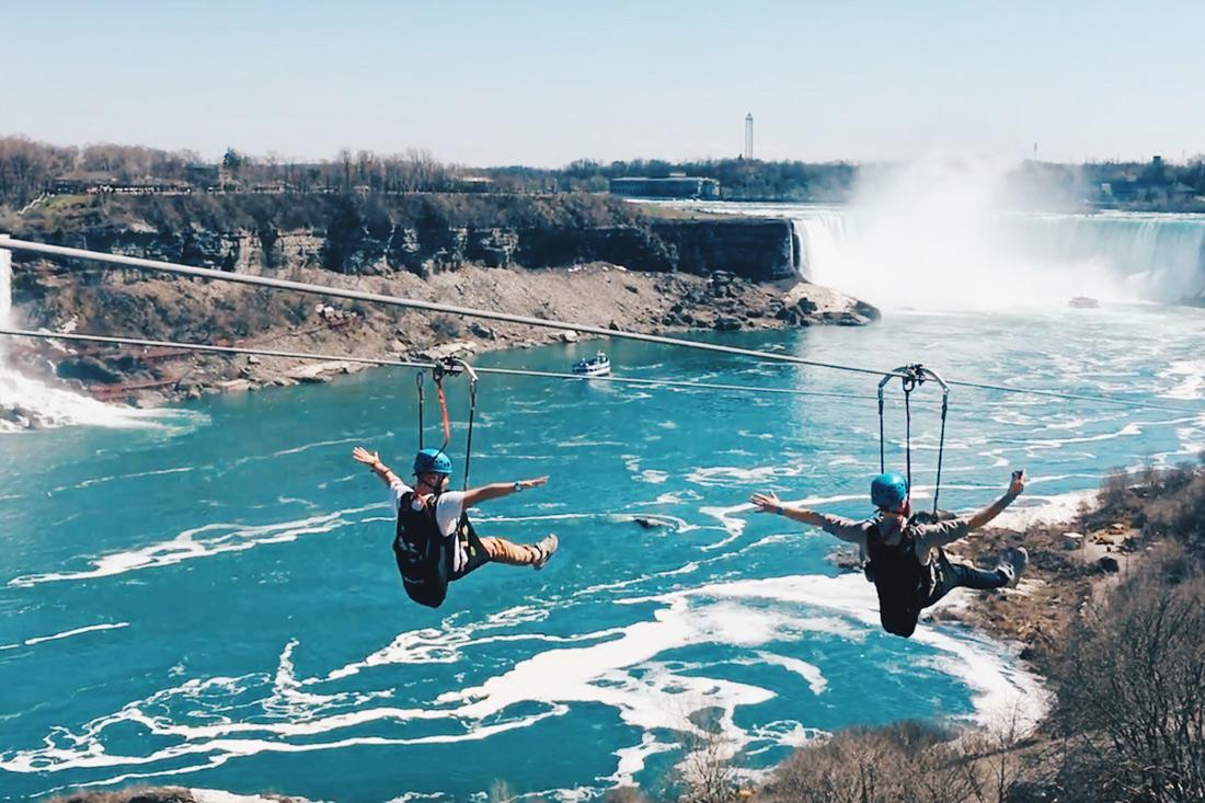 Abenteuer Niagara Fälle Kanada Fly along the Niagara River with a spectacular view | Must Do's Niagara Falls Canada © Coupleofmen.com