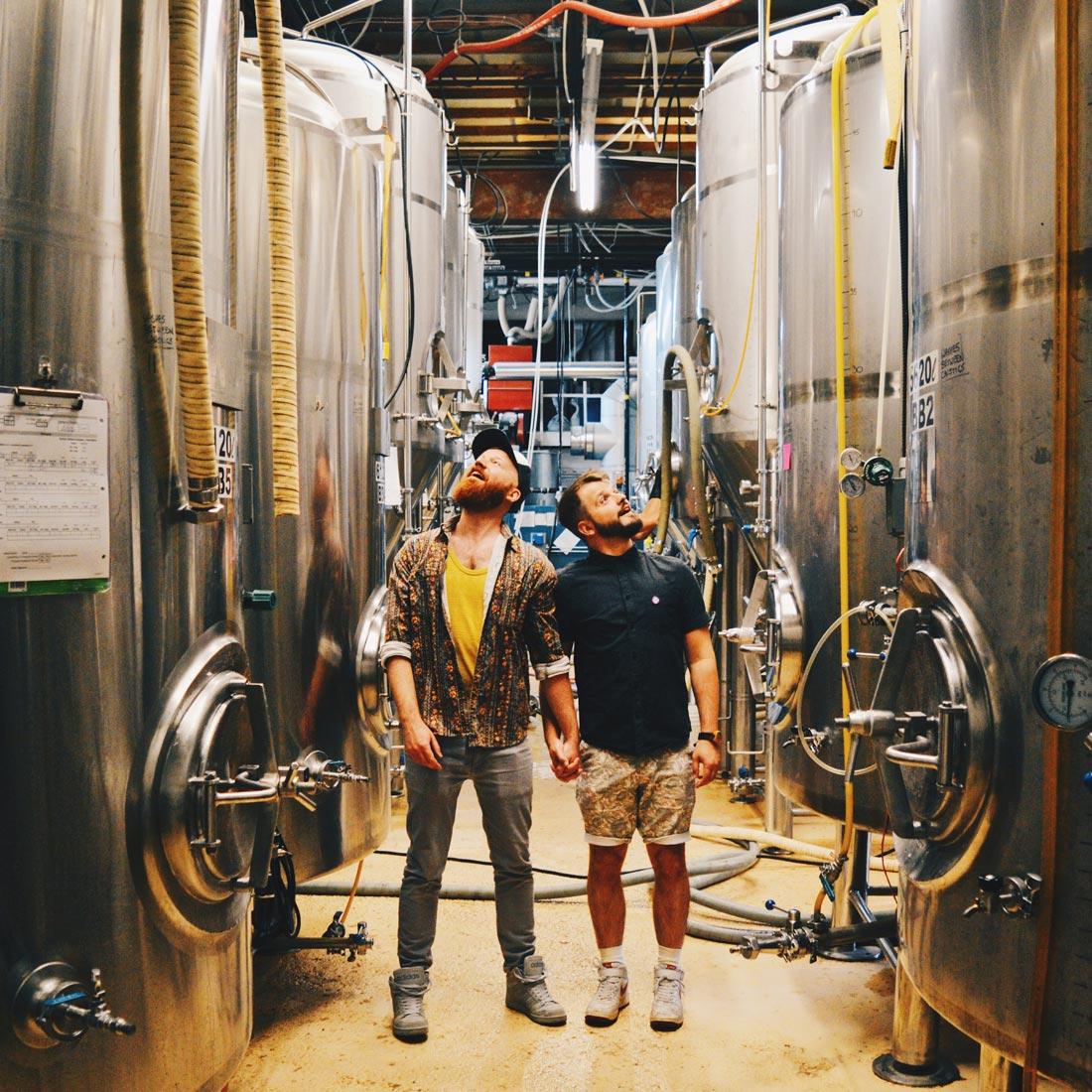 Our Brewery Tour Ally Kat in Edmonton | Gay Edmonton Pride Festival © Coupleofmen.com