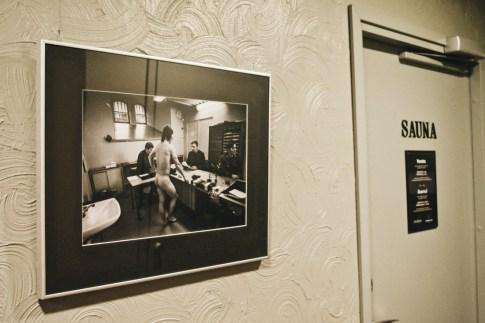 Naked truth right next to the Sauna entrance   Katajanokka Hotel Helsinki Gay-friendly Review © Coupleofmen.com