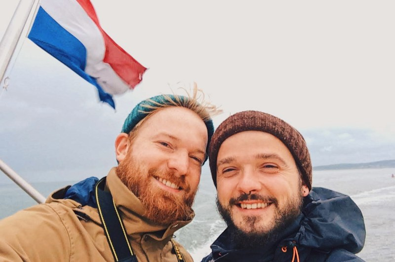 Gay Selfie on the Ferry to Vlieland © Coupleofmen.com