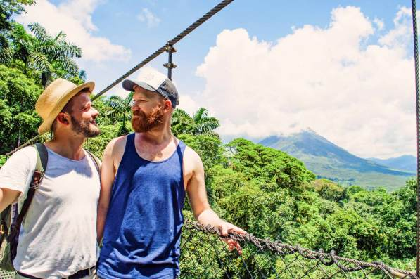 So happy and proud to finally visit Costa Rica together! Pura Vida LGBT | Gay-friendly Costa Rica © Coupleofmen.com