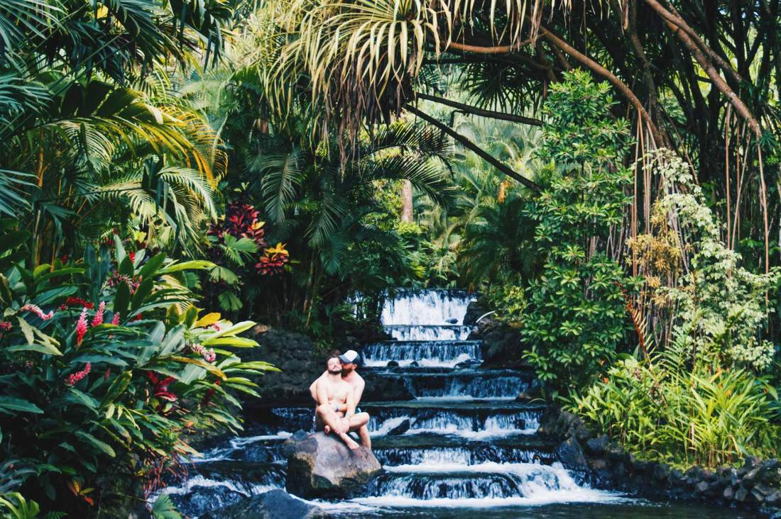 Gay Travel Journal Costa Rica In the end, #lovewins, always! Enjoying Hot Springs at Tabacon © Coupleofmen.com