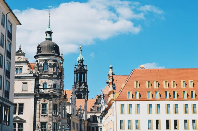 After the complete destruction, the old town of Dresden was rebuilt © Coupleofmen.com