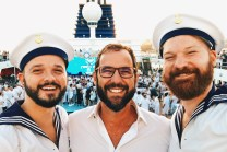 White Party Selfie with Juan Juliá from Axel Hotels | Gay Cruise by Open Sea Cruises x Axel © Coupleofmen.com