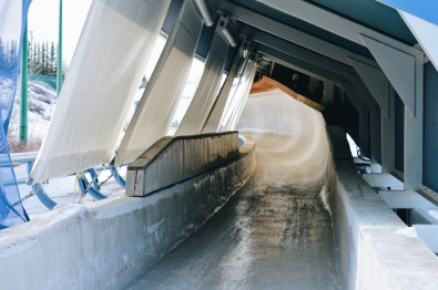 The Olympic Bobsleigh & Luge Track at Winsport | Winter Road Trip Alberta Highlights Canadian Rocky Mountains © Coupleofmen.com