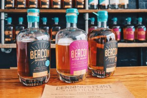 Bourbon, Brandy, Whiskey - Our Tip is the Gin with the Blue Top - Denning's Point Distillery © Coupleofmen.com
