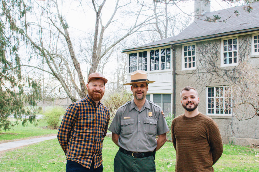 Gay Reise Dutchess County Selfie with our tour guide at Val Kill: Don't miss a thing and join a tour with a representative from the National Park Services at Val Kill © Coupleofmen.com