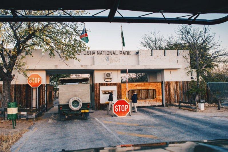 """East Gate """"Von Lindequist or Namutoni Gate"""" of Etosha National Park © Coupleofmen.com"""