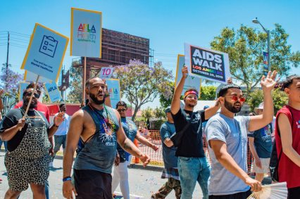 Don't forget to support the AIDS Walk Los Angeles on October 20th 2019 © Coupleofmen.com