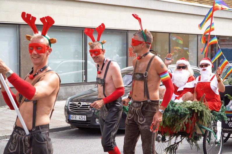Gay Pride Malmö 2019 Malmo Pride 2019 in South Sweden with the Christmas WoMen © Coupleofmen.com