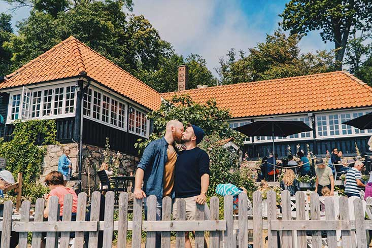 Gay Couple owned Café Ransvik Havsveranda in Mölle