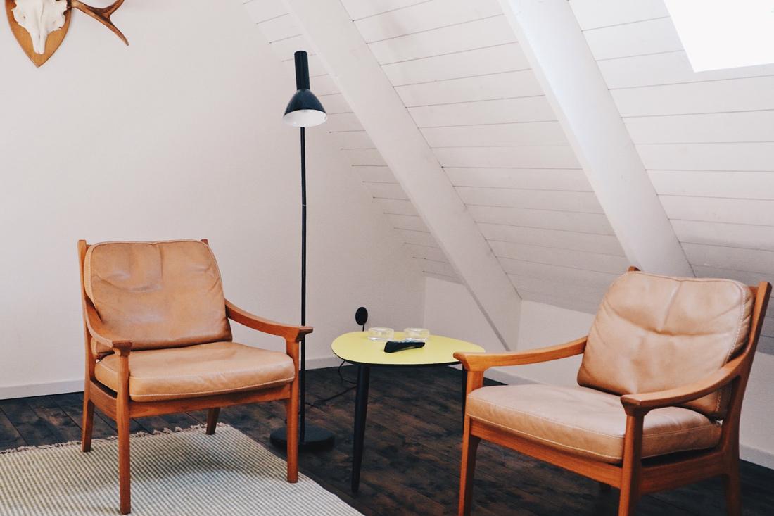 Design sitting corner on the first floor of our apartment © Coupleofmen.com