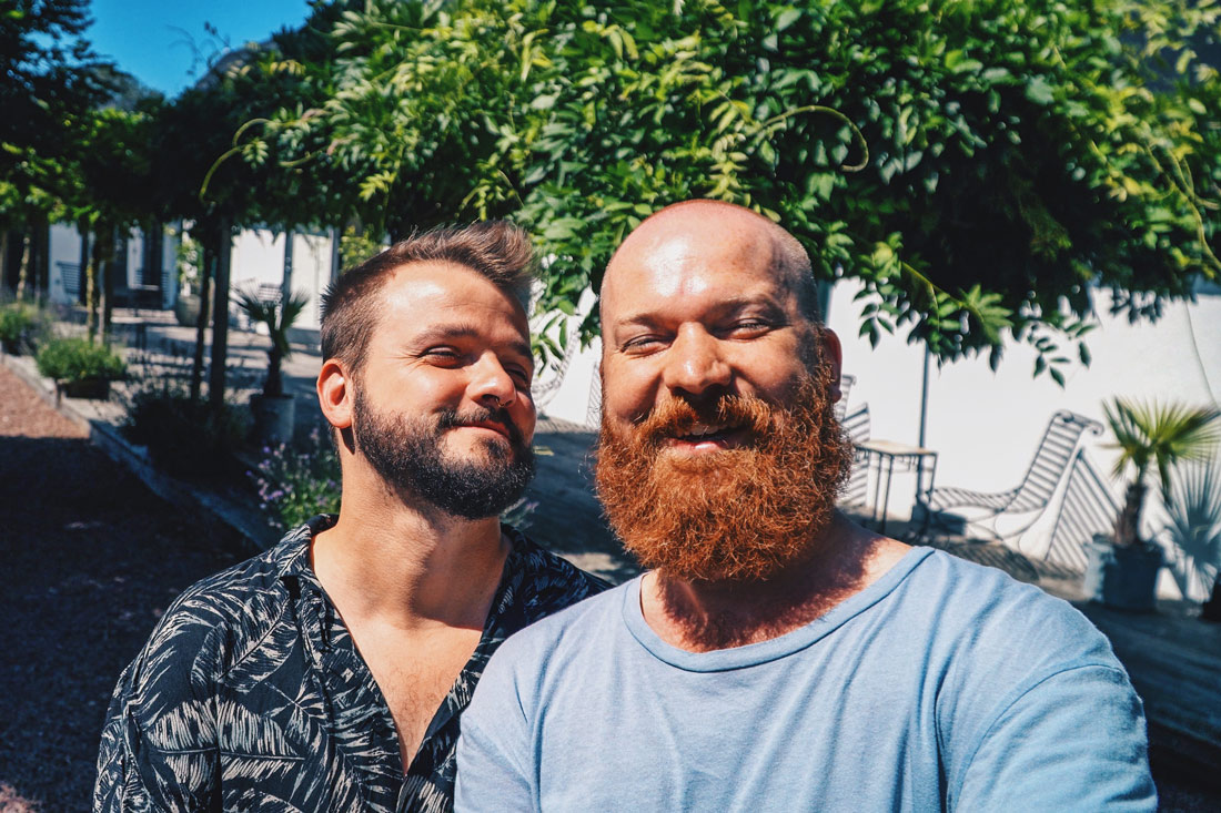 Gay-owned Karnelund Krog & Rum Happy faces after a successful Road Trip around South Sweden © Coupleofmen.com