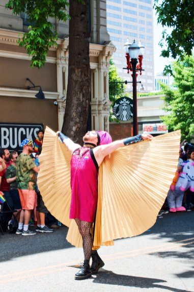 Free like an angel - or a Drag Queen with wings © Coupleofmen.com