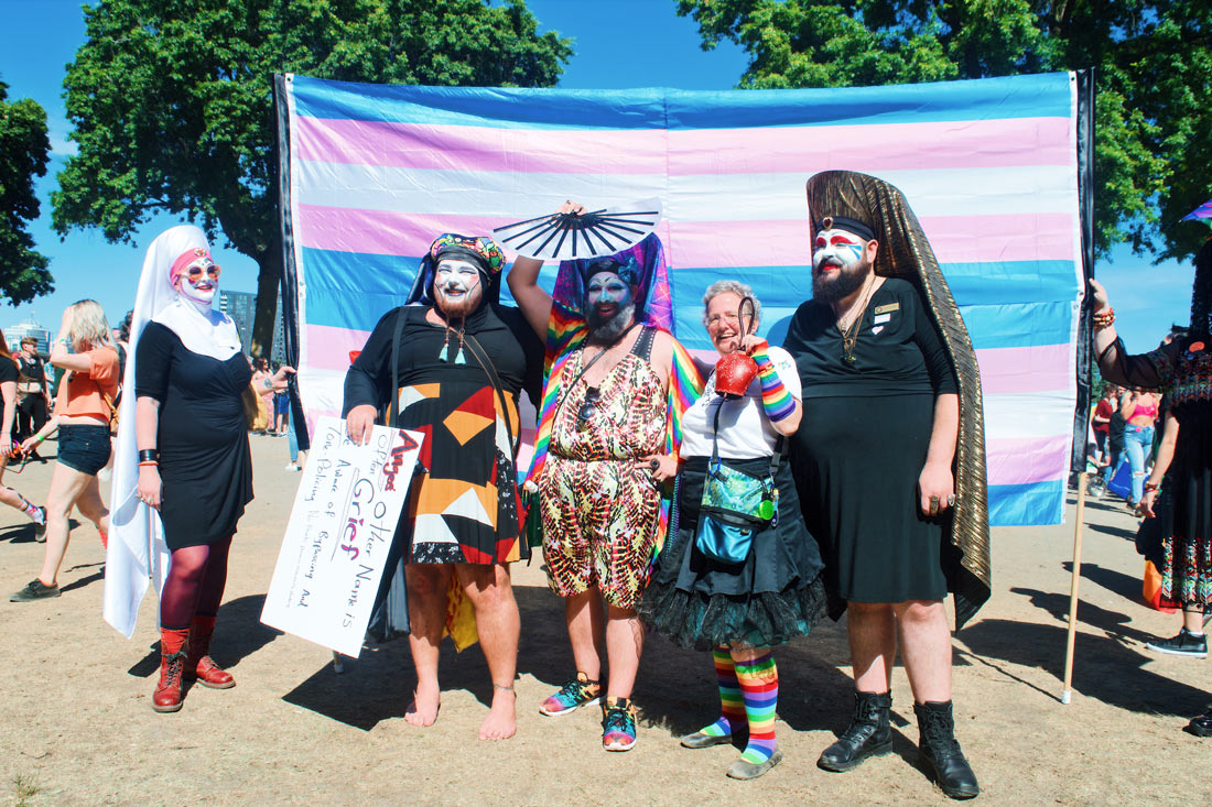 Sisters of Perpetual Indulgence during Portland Trans Pride March © Coupleofmen.com
