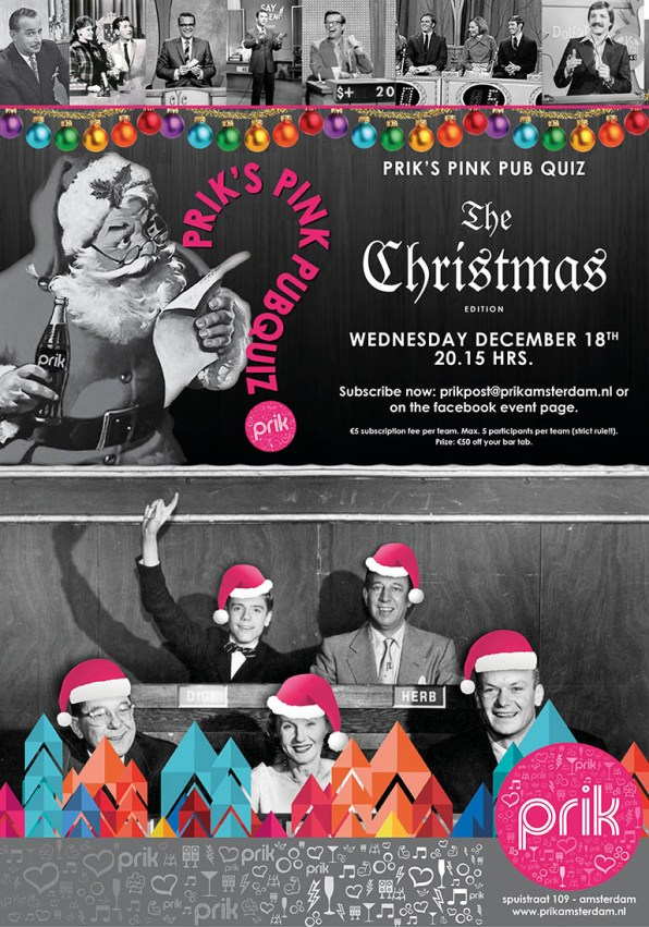Pink Christmas Events at Prik Pink Pubquiz | Gay-Christmas Markets 2019 © PRIK Amsterdam
