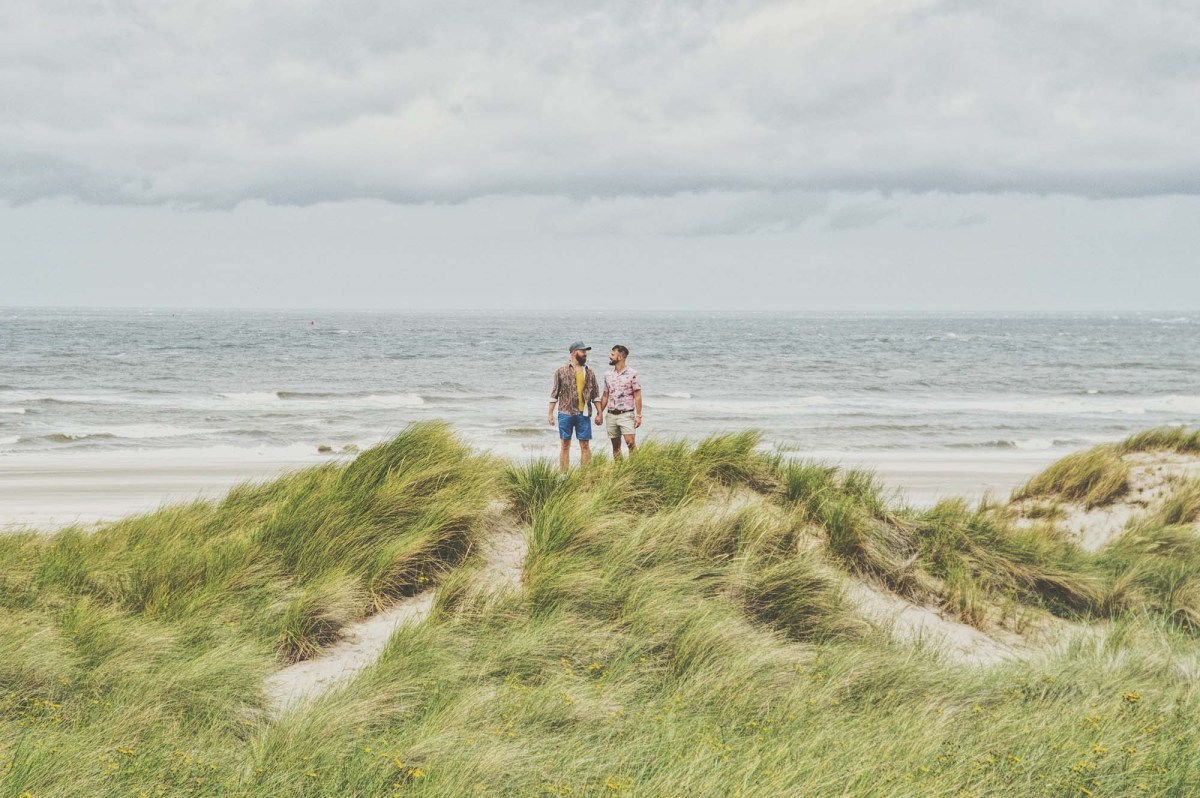 Gay Vlieland Trip A gay couple traveling around the Dutch island Vlieland © Coupleofmen.com