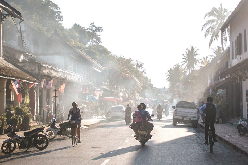 Streetscene of Luang Prabang in Laos, South East Asia