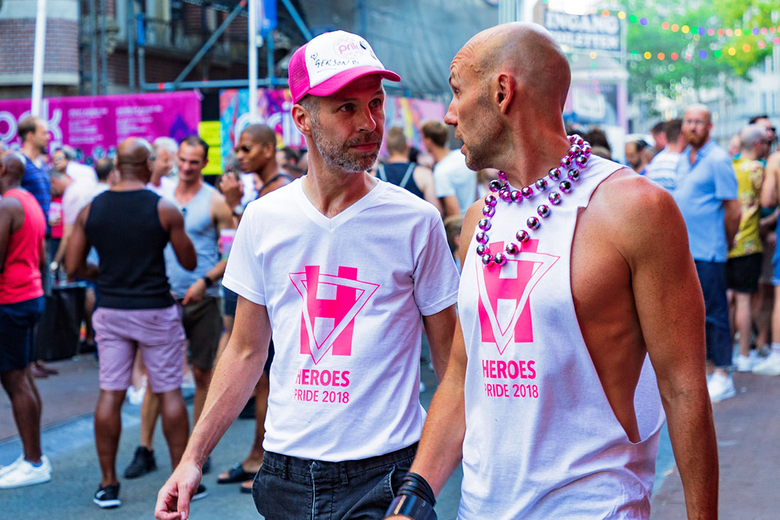 Photo of the PRIK founders Gerson and Jelger at the PRIK Pride Street Party
