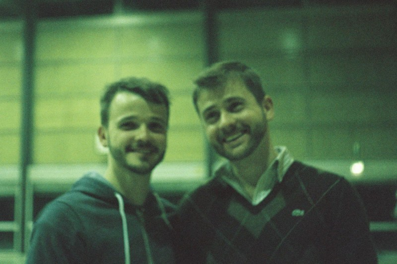 Karl and his gay brother at a Volleyball tournament © Coupleofmen.com