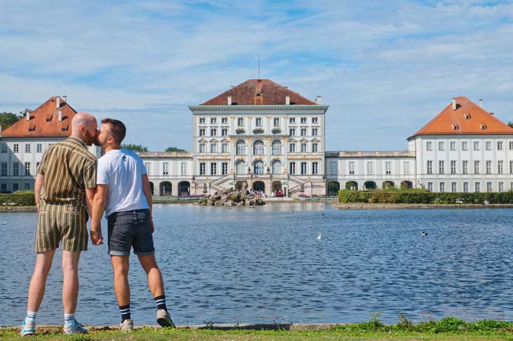 Nymphenburg Palace with Karl and Daan's Gay Couple Summer Fun © Coupleofmen.com