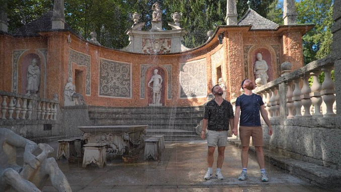 rediscover Gay Salzburg We love the water features at Hellbrunn Palace - specially in Summer © Coupleofmen.com