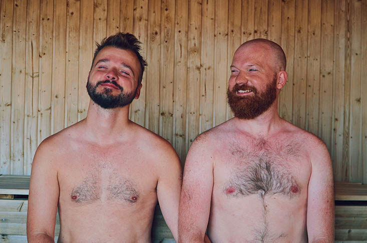 Ribersborgs Kallbadhus: Enjoying a day at Malmö's gay-friendly sauna together © Coupleofmen.com