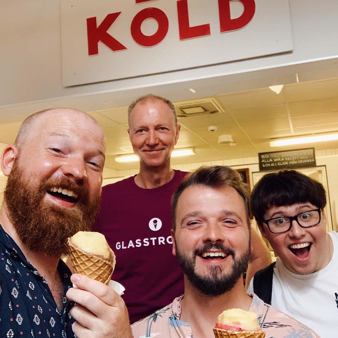 Visiting Mitt Möllan for KÖLD, the best ice cream in town - Sustainable Malmö Gay City Trip © Coupleofmen.com