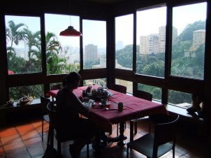 The view at breakfast, Rio, Brazil