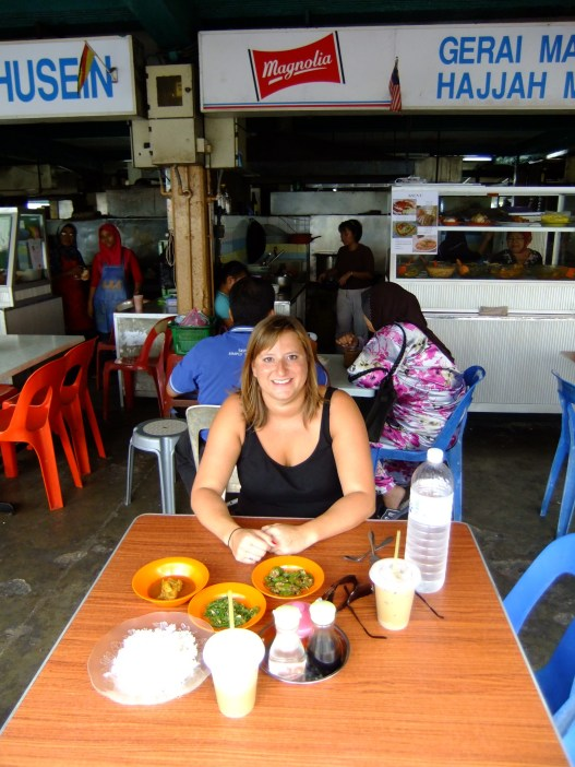 Lunch at a hawker stand, Malaysia