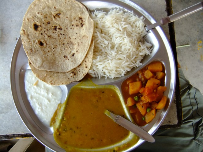 All for just 40p: the cheapest meal of the trip, India