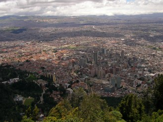 Bogota from above, Colombia