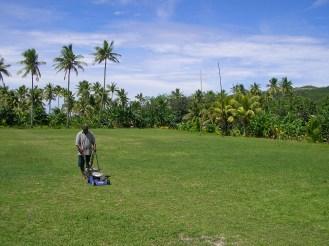 A tropical rugby pitch, Naviti, Fiji