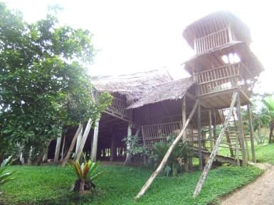Rungus longhouse, nr Kudat, Malaysia