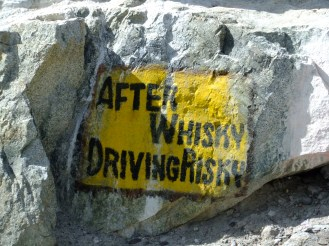 A humourous safe driving notice, Nubra Valley, Ladakh, India