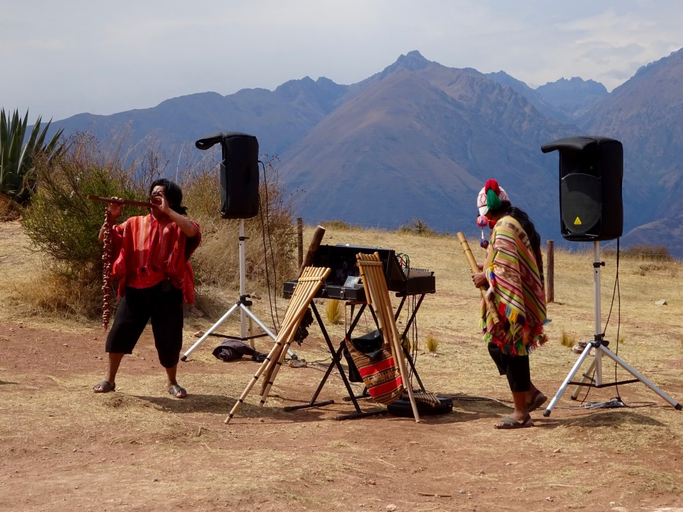 Because what Inca ruin is not complete without panpipes?